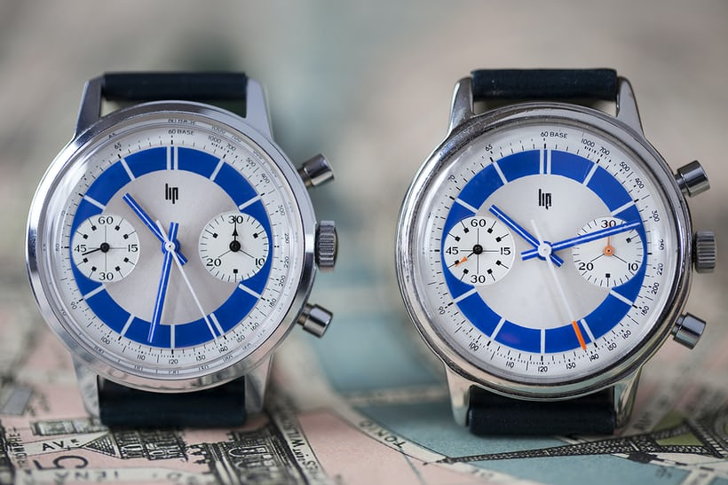 Lip bleu chronographe