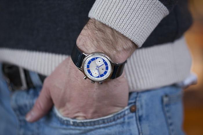 Lip wristhot blue chronograph