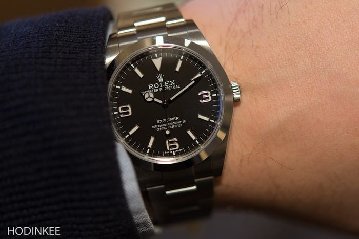 The Rolex Explorer Reference 214270 Wristshot