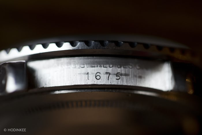 Rolex GMT Master Reference 1675 Engraving