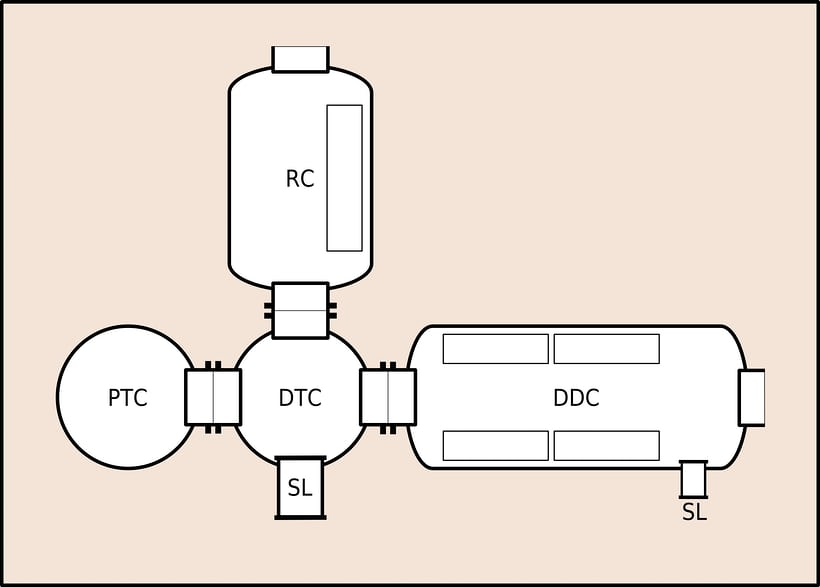 saturation system for saturation diving