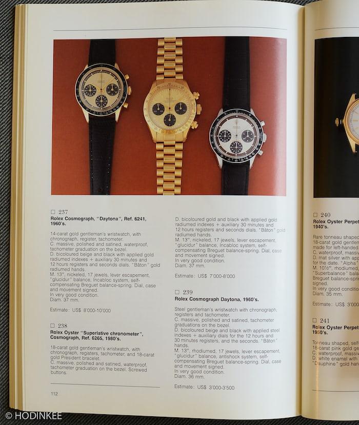 ロレックス ポール・ニューマン デイトナが掲載された1988年のカタログ