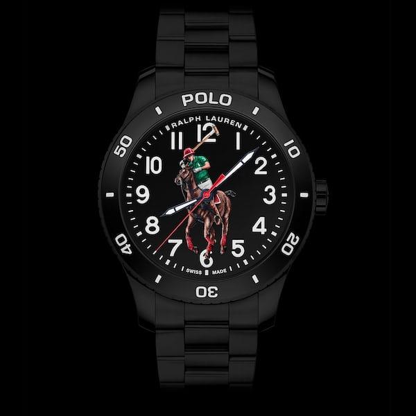 ブラックPVDが施されたブラックダイヤルのポロ ウォッチ コレクション