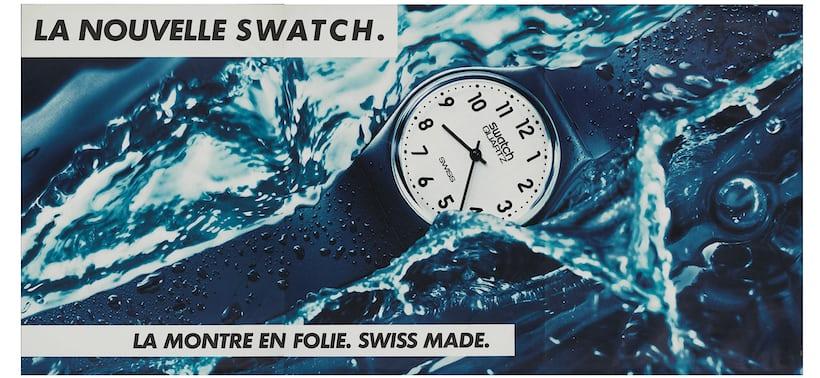 swatch1983年の広告
