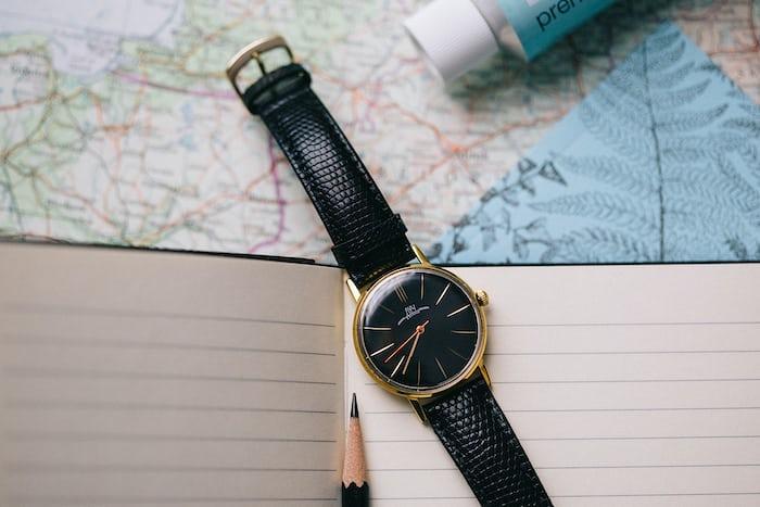 watch on a black strap